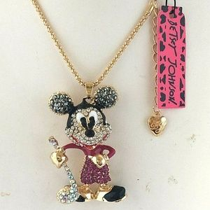 3/$18 Betsey Johnson Mickey Mouse Golf Necklace